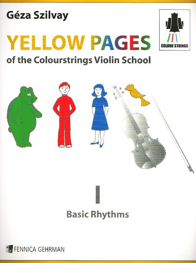 Yellow Pages of The Colourstrings Violin School Book I