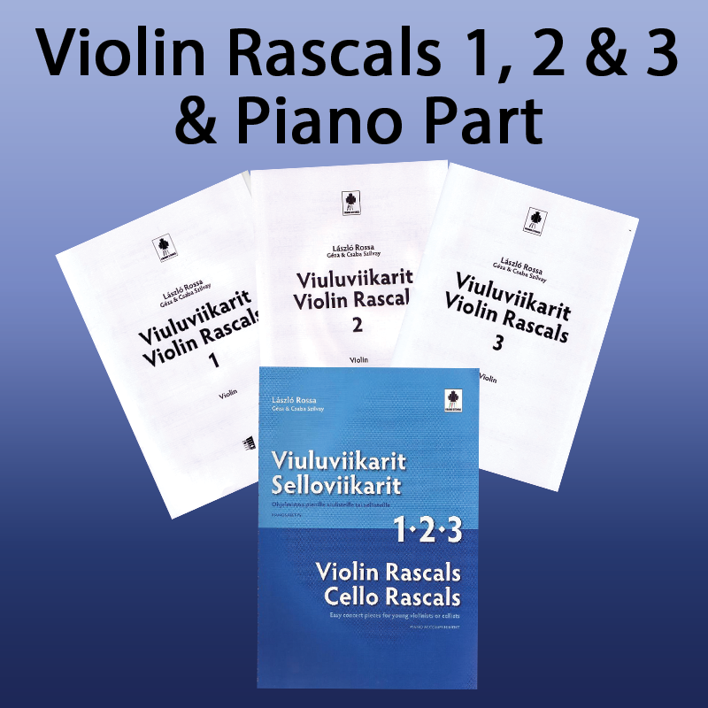 Violin Rascals 1,2,3 & Piano Accompaniment