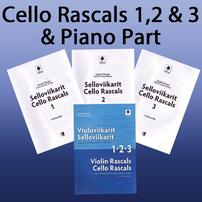 Cello Rascals 1 + 2 + 3 + Piano Accompaniment