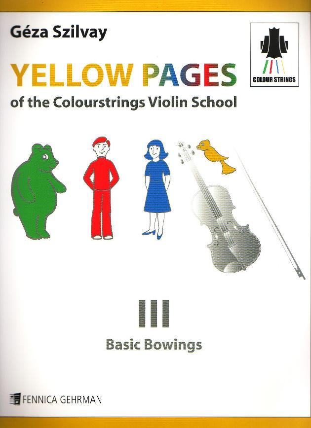Yellow Pages of The Colourstrings Violin School Book III