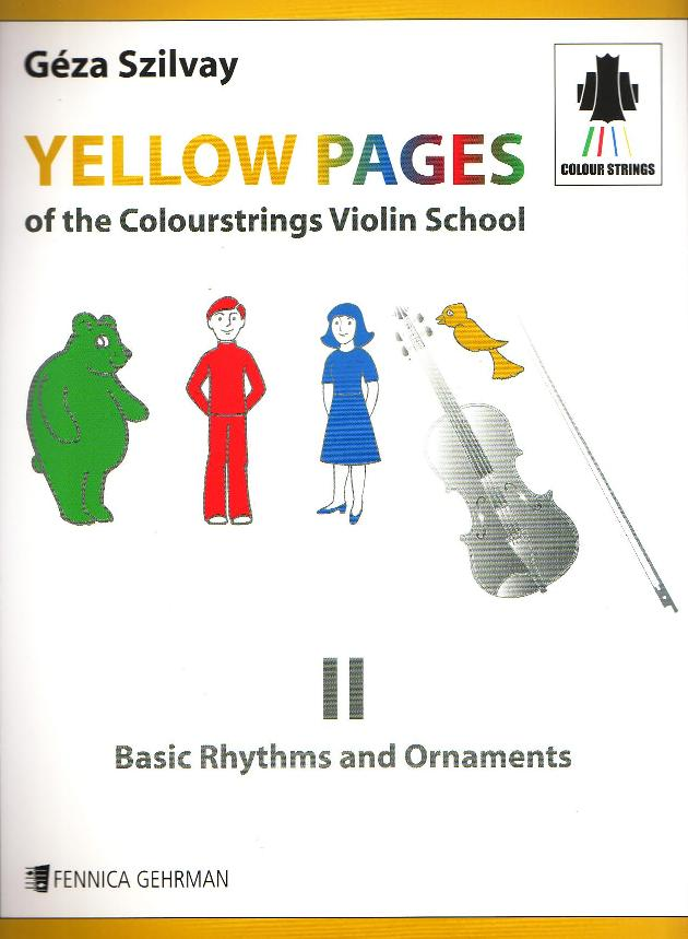 Yellow Pages of The Colourstrings Violin School Book II